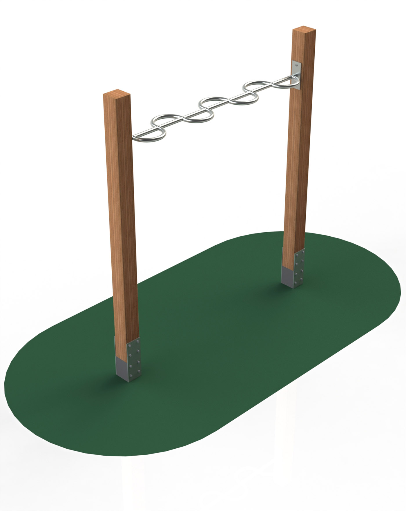 Snake on wooden poles