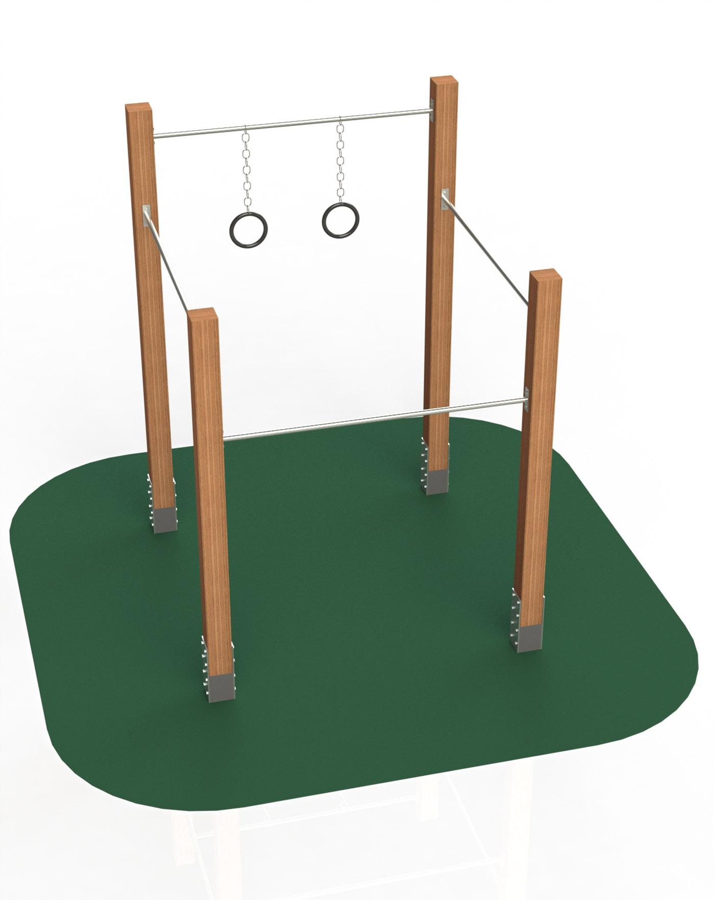 Drążki + koła gimnastyczne