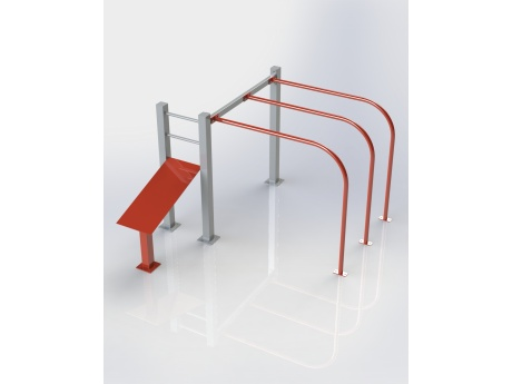 Bench With Handrails