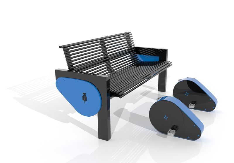 Bench with USB charger