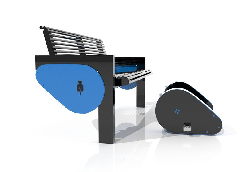Bank mit USB-LADEGERAT